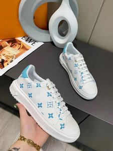 باريس مصمم حذاء رياضة حذاء عرضي مصمم رجل إمرأة العلامة التجارية محبوك شبكة تنفس مريح شقة كعب حذاء اللباس LKP04