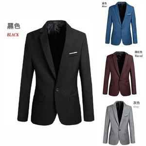 Autumn Mens Suit coat casual Jacket Blazers Polyester One Button outwear designer jackets men clothigns S-4XL