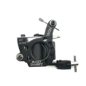 Heiße Verkäufe Ablängen 10 Verpackungs-Spulen-Tätowierung-Maschine für Liner und Shader-Schwarz-Farbe Eisen Tattoo Supplies