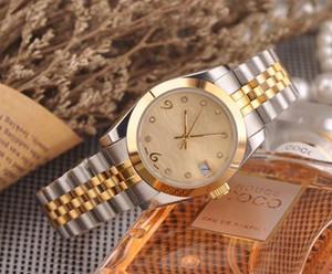 Diosa esencial señoras de cuarzo reloj movimiento 3-pin movimiento único calendario cuarzo 316L caja de acero inoxidable / diámetro de la correa 32 mm ESPESOR