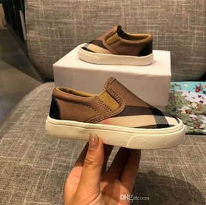 Детская обувь 2019 весной и летом новая детская обувь повседневная классическая клетчатая обувь для мальчиков и девочек из дикого холста