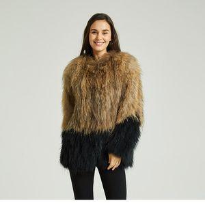 2020 yeni kadınlar hakiki kürk mantolar mont ct838 yelek Pudi kış gerçek rakun kürk ceket
