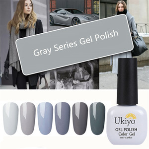 Ukiyo Gray Series UV Gel Polish Soak Off Hybrid Gel Varnish Nail Polish 8ml Semi Permanent Nail Art Enamel Gel Lacquer 12 Color