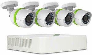 Sistema di sorveglianza TVI EZVIZ 720p, 4 canali e 4 telecamere, 1TB HDD - RISTRUTTURATO