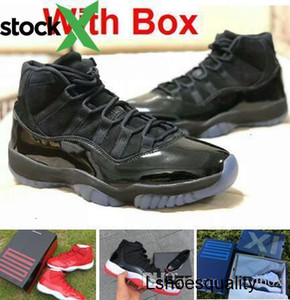Blackout 11s prom night 11 Real carbon fiber Top Quality Gym Red Gamma blue Midnight Navy jordon basketball shoes Bred Concord With Box