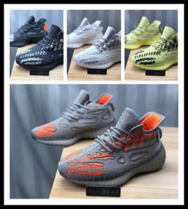 2020 nuevos diseñadores de moda de lujo zapatos de las mujeres los hombres v3 v6 Kanye West pirata negro Tórtola Moonrock Oxford Tan corredor de la onda zapatillas de deporte corrientes
