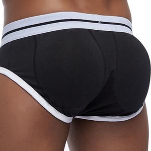 Levantamiento de glúteos de hombres sexy con forma acolchada Calzoncillos para hombre Bulge Mejora la ropa interior Gay Frente + cadera extraíble Push Up Copa J190715