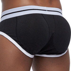 Sexy Butt Lifting Shaping Acolchoado Mens Briefs Bulge Enhancing Gay Roupa Interior Frente + hip Removível Push Up Cup J190715
