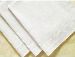 Сторона 34см 100% хлопок Мужской Таблица Сатин носового платка Буксиры площади Handkerchief Whitest 34см Мужчины Рождественский подарок