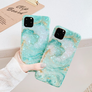 Für iPhone 11 Pro Max Glanz Bling Funkeln Marmor iPhone Fall für 7 8 6 S 6S Plus X XR XS Max Abdeckung dünner Conch Shell Funda