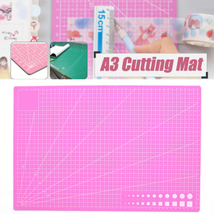 Cutting Mat A3 PVC Cutting Craft Pad Rectangle Grid Lines Patchwork Cut Pad Manual DIY Tool Cutting Board Double-sided Non-slip Self-healing