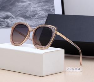 Lüks-High-end güneş gözlüğü new designer bayanlar İyi kalite kutusu ile 2019 sıcak satıcı büyük çerçeve polarize güneş gözlüğü