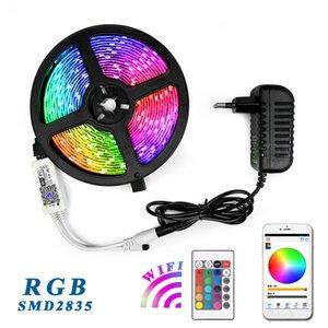 Waterproof RGB LED Light Strip 5 M 10M 15M Guirlande LED DC12V flexible lumière bande LED chaîne de bande d'éclairage de vacances
