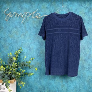 2020ss весна и лето новый высококачественный хлопок печать с коротким рукавом круглый вырез панели футболка размер: m-l-xl-xxl-xxxl цвет: черный белый S7