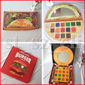 IMEAGO Maquillage pour les yeux 15 couleurs Viva Taco 16 couleurs Hamburger Burger Ombre à paupières mate Délicieuse palette d'ombres à paupières