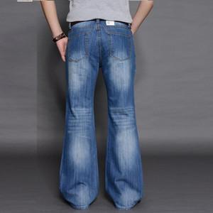 Мужские джинсы стиль большие колокольниковые брюки длинные джинсовые брюки корейские свободные широкие джинсовые джинсовые мужчины Bootcut