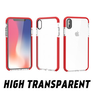 High Transparent TPU phone case for iphone 6s 7 8 plus Shock absorption TPU cover for iphone x xr xs max