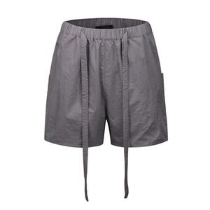 Ligera con cinturón Pista cortos de verano corto de longitud Mesh forrado sudor pantalones cortos de Calle