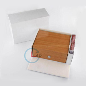 최고 품질의 럭셔리 새로운 광장 우디 시계 상자 오메가 상자 시계 소책자 카드 태그 및 논문에서는 영어 남성 손목 시계 케이스 선물 가방