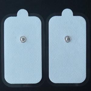 Tens Snap Adhesive Electrode Pad 2Inch * 3.5Inch EMS الكهربائية مشجعا وسادات كبيرة 2PCS لكل PackC متوافقة مع معظم نماذج آلة TENS