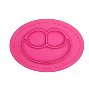 rose-bengal 100% Silicone Suction Plate with Built-in Placemat for Infants + Toddlers - First Foods + Self-Feeding - Comes with a Reus