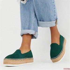 LASPERAL gamuza sintética las alpargatas de los calzados informales de los holgazanes de las mujeres zapatillas de ballet de las señoras cómodas Zapatos