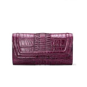 gete new крокодиловая кожа женщины клатчи женская тайская кожаная модная сумка вечерняя сумка крокодил женщины кошелек кошелек