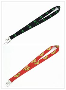 20pcs más nuevo superhéroe cómico Wonder Woman / Green Lantern Neck Strap Lanyards ID badge card holder keychain Mobile Phone Strap Gift