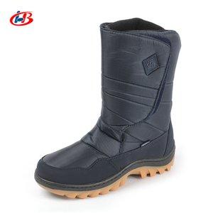 Libang Brand New Bottes Hommes mi-mollet Bottes hiver warmful hommes Bottes de neige antidérapants Chaussures hiver imperméables pour hommes Taille Plus 41-46