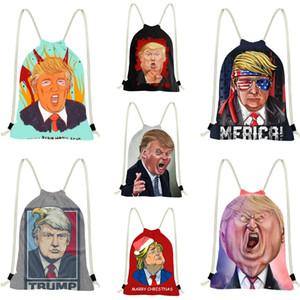 Vendite calde Trump borsa Uomo Donna di lusso in pelle Zaino zaino nero Trump Totes # 406