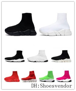 chaussures chaussette vitesse entraîneur tricot les femmes de la mode maille chaussures de sport tripleur s blanc vintage noir formateurs de la plate-forme de bottes de 2020 hommes