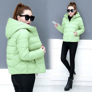 YICIYA Verde donne caldo Parka cappotto spesso 2018 inverno incappucciato plus size solido femminile jaket abbigliamento nero rosa rosso