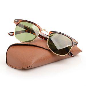 Sonnenbrille Womens Black Brand Designer Unisex Ray Sun Glassess Sonnenbrille Herren Sonnenbrille Box mit klassischem ursprünglichen braunen Hüllen und 1 Mnbo