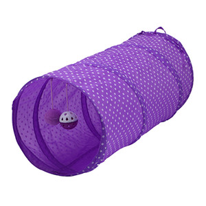 Cat Toy Collapsible Pop Up Tunnel Tube with Bells, for Small Pets Bunny Rabbits, Kittens, Ferrets,Puppy and Dogs