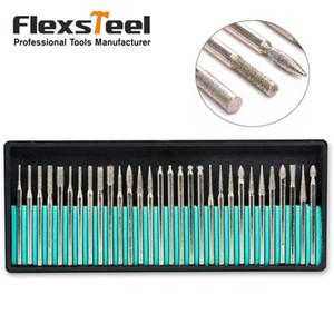 Drill Haufen Bits 30PCS 2.35mm Shank Diamantschleifer Set Bohrer für Drehwerkzeug Precision Gravur Carving Schleifwerkzeug zum Nagelbohrer ...