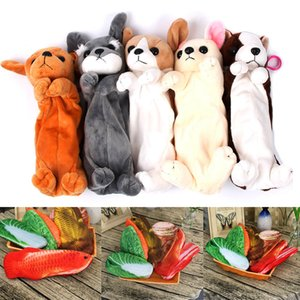 Hot Sale Kawaii Cartoon Puppy Dog Fruit Pencil case Soft Plush Stationery Pencil Bag Box For Kids Gift School Supplies Papeleria