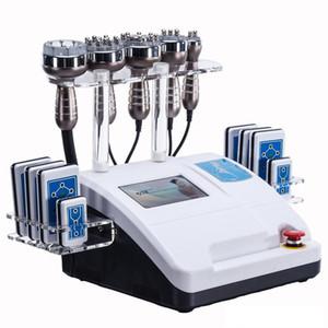 6in1 40K ultrasuoni cavitazione multipolare RF 8 pastiglie LLLT lipo laser vuoto liposuzione macchina dimagrante salone di cura della pelle spa
