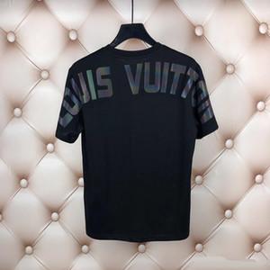Louis Vuitton T-shirt 2020 fãs Paris T-shirt dos homens senhoras verão ocasional luminosa T-shirt letras de algodão de moda de manga curta Medusa xshfbcl T-shirt