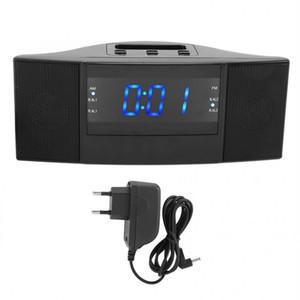 Electronic ABS 2 in 1 LED Digital Desktop Alarm Clock with FM AM Radio Function (EU Plug 220V) Radio Alarm Clock Home Decor