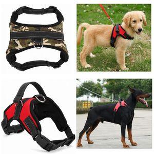 Nylon Heavy Duty Hund Haustier-Kabelstrang-Kragen Verstellbare gepolsterte Extra Big Large Medium Small Hundegeschirre Vest Husky Hunde Supplies