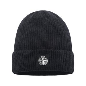 Cap Beanie da forma das mulheres dos homens Beanie Hat Inverno Quente Bonnet Nova malha Thicken Quente Luxo Hat