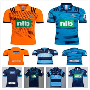 2018 2019 New Zealand Super Rugby Blues Jerseys Home Away Blue Orange 18 19 20 Rugby League Training T Shirts Size S-XXXL