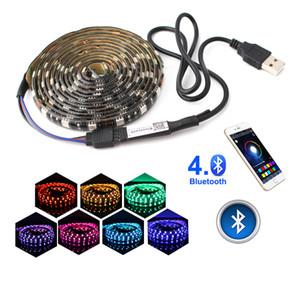 5V LED RGB شرائط USB الخفيفة للماء 5050 وحدة تحكم بلوتوث USB 5 V نيون الصمام الخفيفة قطاع RGB الشريط الضوء المحيط Ambilight TV الخلفية