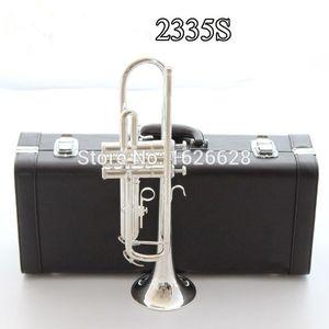 Trompeta de plata YTR-2335S instrumento de música de trompeta B plana preferido trompeta nueva súper rendimiento profesional libre del envío