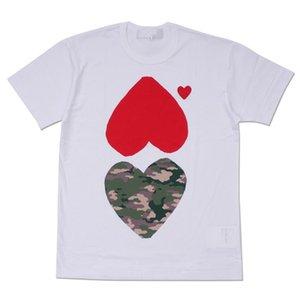 Мужские женские дизайнерские футболки мода с коротким рукавом дышащая футболка бренд сердце печати забавный круглый вырез топ новое поступление тройники размер S-XL