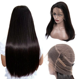 24inch 360 Lace Frontal Straight Wigs Pre Plucked With Baby Hair Remy Human Hair Long 13x6 Full Lace Front Wig