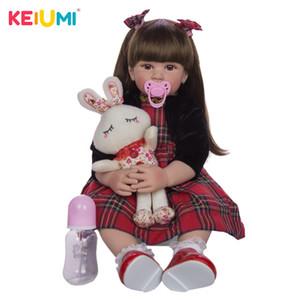 bebes Reborn 60cm Silikon reborn Baby Puppe adorable Naturgetreue Kleinkind Bonecas Mädchen menina de surprice Puppe mit den Händen öffnen