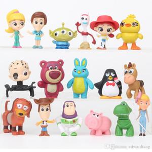 ZDY mini bambola giocattolo da 3 pollici, Cartoon Robot, Forky Ducky, Slinky Dog, 17-pezzi, ornamento per il regalo di compleanno di Natale del partito Kid', raccolta