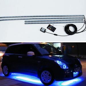 سيارة Underglow مرنة قطاع الصمام التحكم عن بعد RGB مصباح جو الديكور تحت أنبوب Underbody نظام طقم ضوء النيون