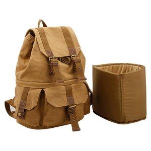 Designer-multifunzione tela borsa fotografica impermeabile spalla zaino di svago di corsa esterna leggera borsa fotografica reflex Canon